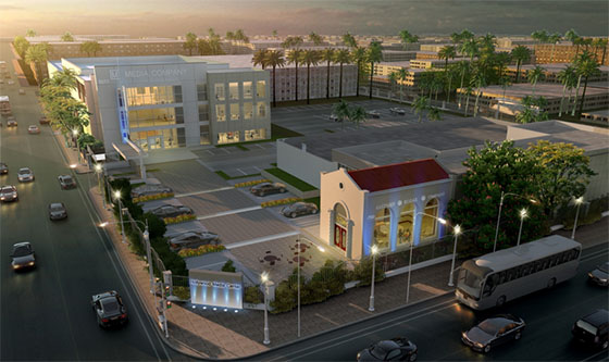 Hollywood Media Campus rendering (credit- Atchain)