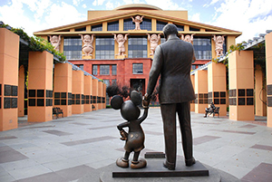 The Michael D. Eisner office building at Walt Disney Studios in Burbank