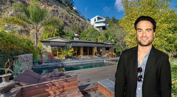 Johnny Galecki and the Hollywood Hills property