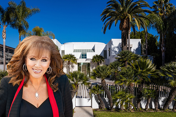 The late Jackie Collins and her Beverly Hills home