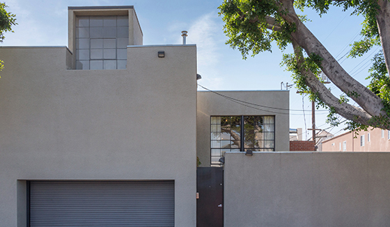 The exterior of the building at 7001 Melrose Avenue