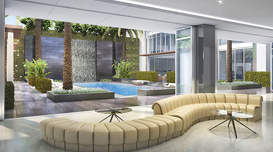 Four Seasons Private Residences Los Angeles lounge