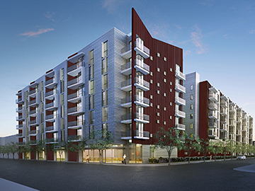 A rendering of the Western Avenue project