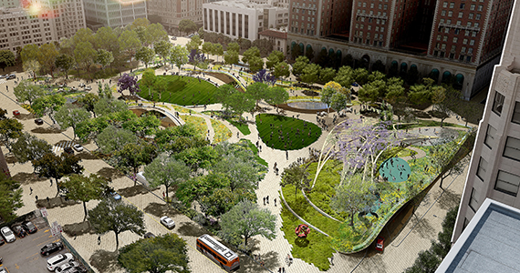 Pershing square pershing square renew design competition for Landscape design contest