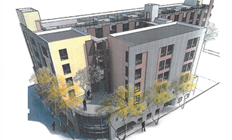 Rendering of the project at 1307 West 7th Street