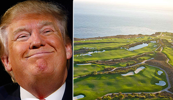 Donald Trump and his Trump National Golf Club Los Angeles in Rancho Palos Verdes