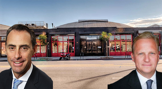 From let: Jeff Rinkov of Lee & Associates, Jeff Weller of Lion Real Estate Group and the property at 2020 East 7th Street in the Arts District