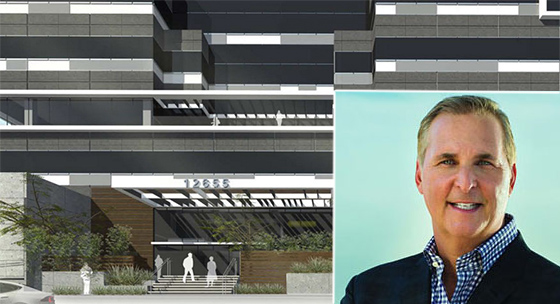A rendering of the Landing in Playa Vista and Victor Coleman, the CEO of Hudson Pacific Properties