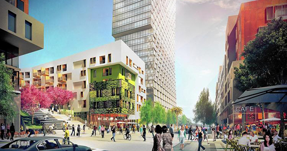 Rendering of SoLA Village in L.A. (credit: The Reef)