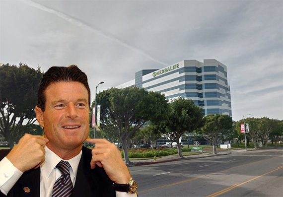 Herbalife CEO Michael Johnson and its Torrance HQ