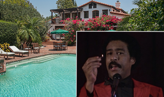 "The property at 17267 Parthenia Street (credit: Melissa Di Meglio) and a still from ""Richard Pryor: Live on the Sunset Strip"""
