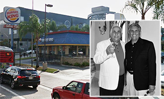 Ralph and Larry Cimmarusti and the Burger King at 469 North Grand Avenue (credit: Google Earth, Italianhall.org)