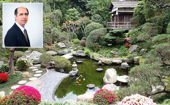 The Hannah Carter Japanese Garden at 10920 Wilshire Boulevard and Mark Gabay