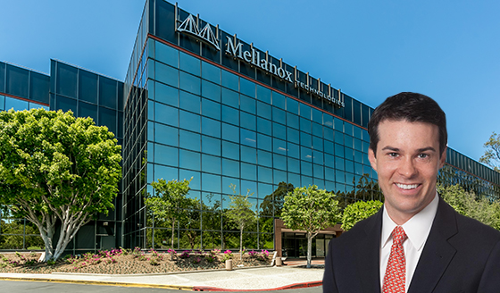 The Los Angeles Corporate Center and listing broker Sean Fulp of NGKF