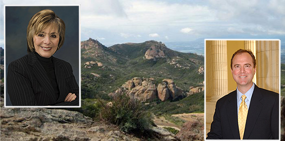 Santa Monica Mountains, Sen. Barbara Boxer and Rep. Adam Schiff (credit: NatureBridge.org)