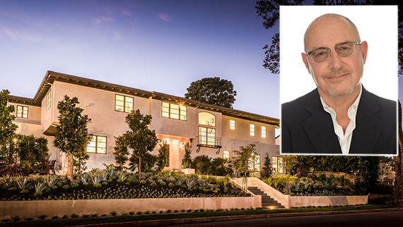 Robert Morton and a Brentwood house he sold (credit: Partners Trust)