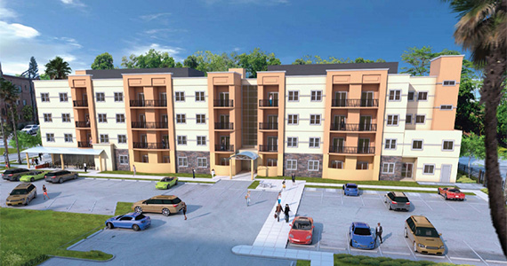 Rendering of Swansea Village (credit: Jones & Martinez, Architects)