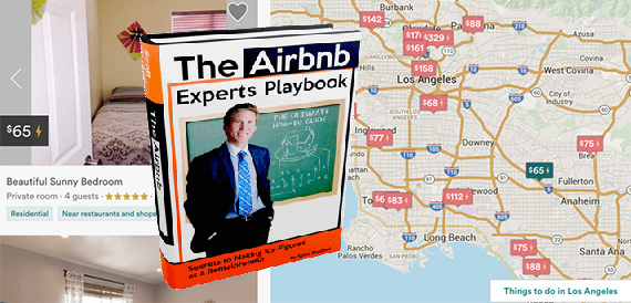 Shatford's e-book and the Airbnb interface (credit: AirDNA, Airbnb)
