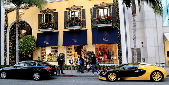 Bijan storefront at 420 North Rodeo Drive