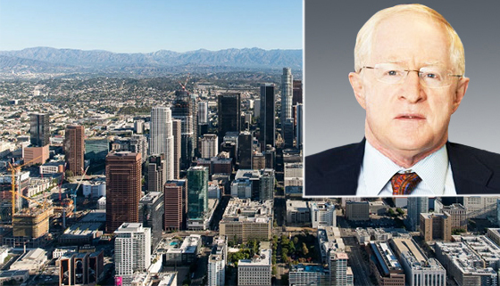Related California CEO Bill Witte and a photo of the DTLA skyline by Hunter Kerhart