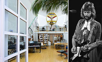 Eric Clapton and his former home at 16 Paloma Avenue (credit: Estately)