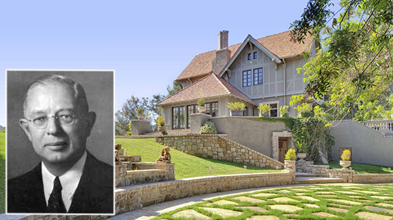 Harvey Mudd and his eponymous former estate at 1240 Benedict Canyon Drive
