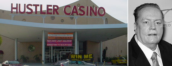 Larry Flynt and his Hustler Casino in Gardena (credit: LinkedIn, Wikipedia)