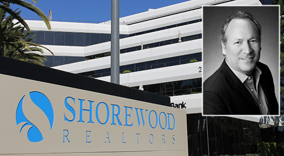 Shorewood's El Segundo office at 2141 Rosecrans Avenue and its CEO Roger Herman (credit: Murray Aaronson, Shorewood Realtors)