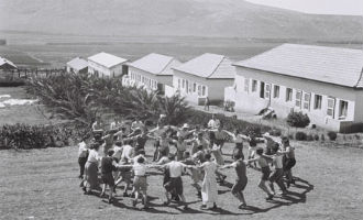 Members at Kibbutz Ein Harod in 1936. (credit: Polaris, c/o Intentional Communities Desk)
