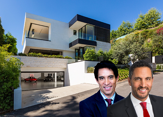 Blair Chang and Mauricio Umansky of the Agency with 9133 Oriole Way