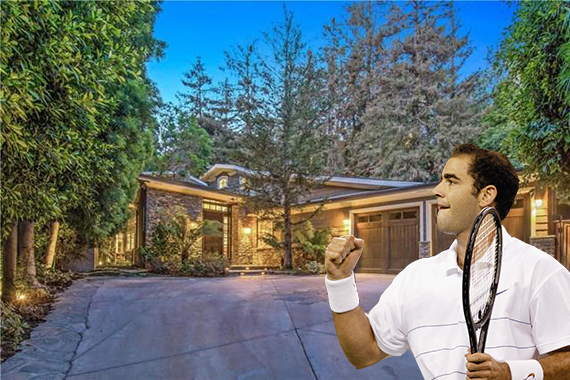 Pete Sampras and his Brentwood home