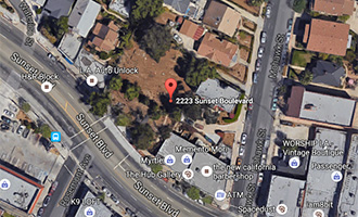The lot at 2223 West Sunset Boulevard