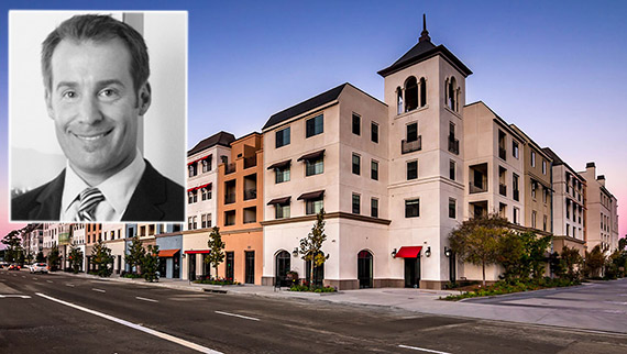 Benedict Canyon Equities President and CEO Ryan Somers and the property at 21800 Avalon Boulevard