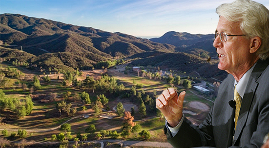 Bill Hoffman of Trigild (credit: Business Wire) and the Malibu Golf Course