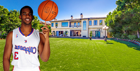 Chris Paul and his home at 2180 Stratford Circle