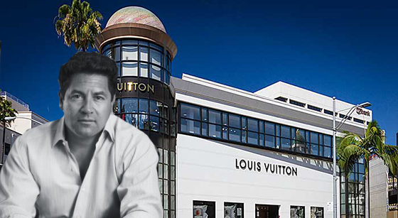 Jay Luchs of NGKF and the Louis Vuitton store on Rodeo Drive