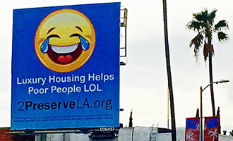 A billboard from Coalition to Preserve L.A., a group sponsored by the AIDS Healthcare Foundation