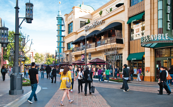 1st Street in The Grove, an outdoor shopping mall owned by Caruso Affiliated.