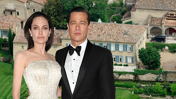Angelina Jolie, Brad Pitt and their French chateau