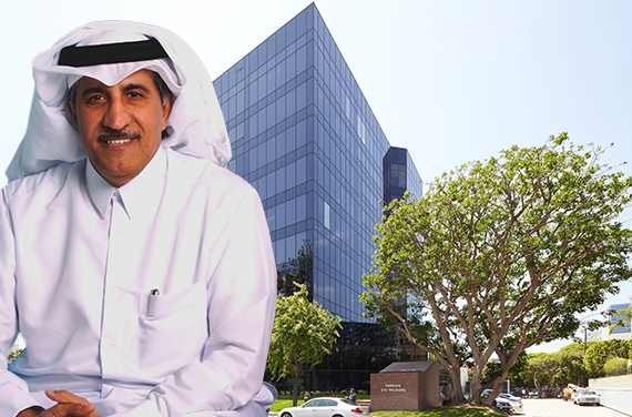 Sheikh Abdullah bin Mohammed bin Saud Al Thani and the Searise Office Tower at