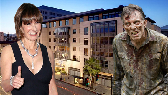 "Anne Gale Hurd, the Swank at 345 East Colorado Boulevard and a zombie from ""The Walking Dead"""
