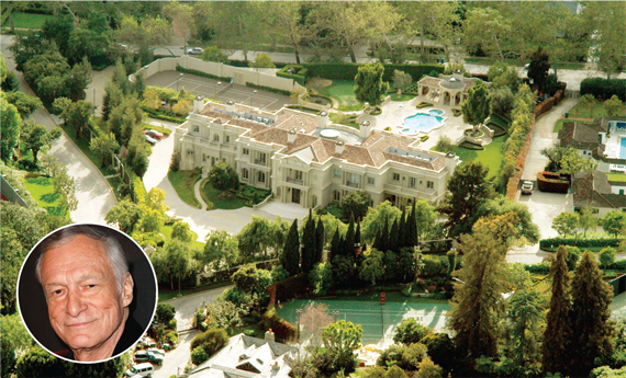 Celebrity Homes La Playboy Mansion Kendal Jenner