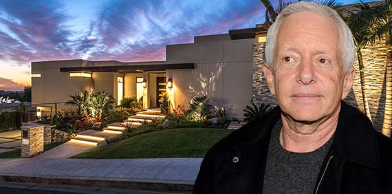 Andrew Scheinman and his spec house at 525 Bellagio Terrace (Credit: Gussman Czako Estates, Getty)