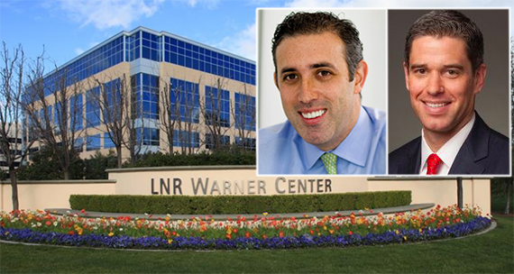The LNR Warner Center at 21215 Burbank Boulevard, Angelo, Gordon & Company's head of U.S./Europe real estate and David Binswanger, Lincoln Property's senior executive vice president