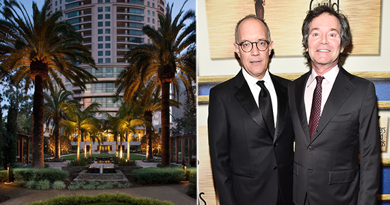 David Crane, Jeffrey Klarik and the Century at 1 West Century Drive (Credit: Getty, MLS)