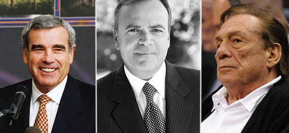 From left: Edward Roski, Jr., Rick Caruso and Donald Sterling