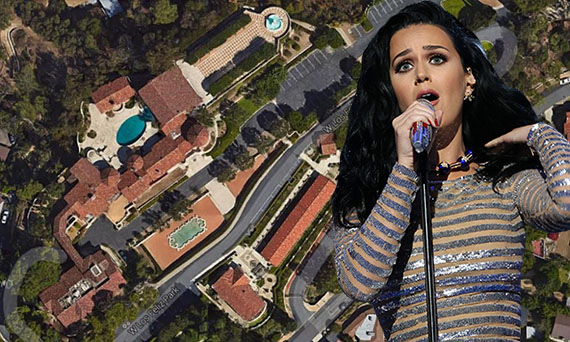 Katy Perry and the convent at (Credit: Google Earth via Global Sisters Report and Getty Images)