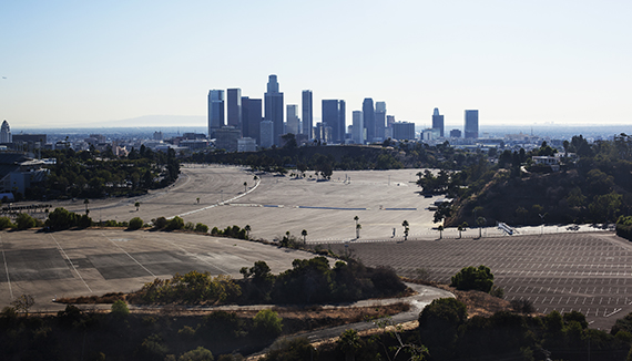 Empty parking lot in Downtown (Credit: Getty)
