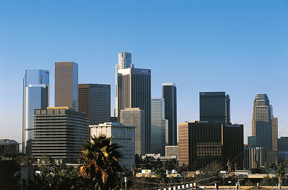 The L.A. skyline (credit: Getty Images)