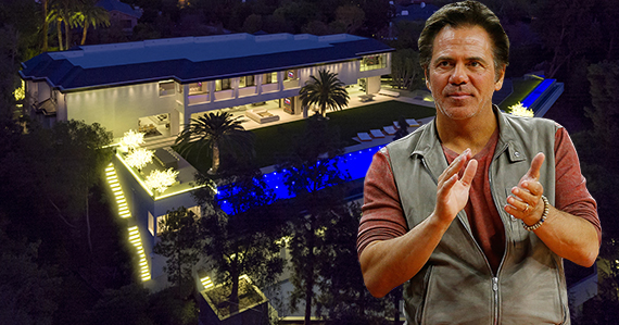 Tom Gores and his new home at 301 North Carolwood Drive (Credit: Getty, Simon Berlyn)